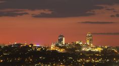 Sandton skyline, an affluent suburb of Johannesburg, Gauteng, South Africa.