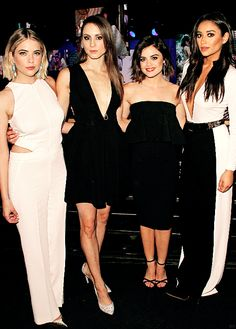 Ashley Benson, Troian Bellisario, Lucy Hale & Shay Mitchell attend ABC Family Upfront presentation in NY | 14.04.15