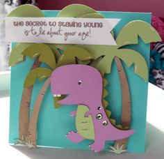 dino mite, dont know how the saying fits in, but the Sino art is super cute!