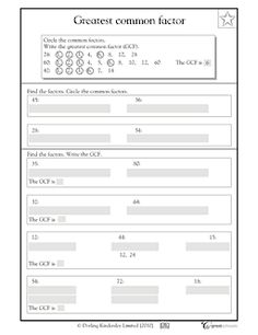 math worksheet : greatest common factor worksheet  customizable and printable  : Gcf Math Worksheets