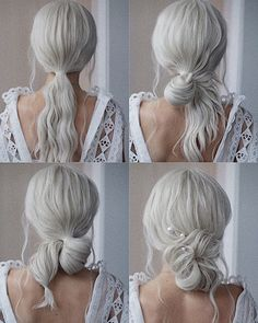 This elegant hairstyle is also suitable for bun wedding hair can match your wedding dress. Bridal hair updo or bridesmaid hair updo is perfert for wedding hairstyles updo. Try this Easy And Cute Hair Tutorialsnow of easy hairstyles! Low Bun Wedding Hair, Long Hair Wedding Styles, Elegant Wedding Hair, Diy Wedding, Wedding Dress, Casual Wedding, Wedding Ceremony, Bridesmaid Hair Updo, Bridal Hair Updo