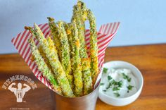 Need to freshen up your asparagus recipe for yourself or your family? Try these delicious asparagus fries that are sure to be a. Healthy Menu, Healthy Snacks, Healthy Eating, Healthy Recipes, Healthy Dinners, Asparagus Fries, Asparagus Recipe, Clean Eating Recipes, Cooking Recipes