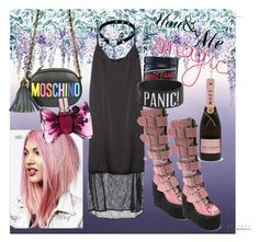 """""""crazy in goth"""" by annalisa-s on Polyvore featuring Designers Guild, Manic Panic, Moschino and Viktor & Rolf"""