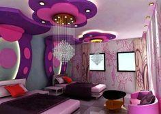 habitación adolescentes mujer color lila y violeta