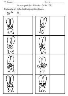 Langues-CAHIER-2P-Je-veux-pas-aller-a-l-ecole-4 16 Wordpress, Education, Albums, Sticker, Cute Bunny, Kindergarten Classroom, Kindergartens, Kindergarten Coloring Pages, Kids Learning