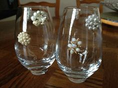Beautiful Vintage Stemless Wine Charms by Winegals on Etsy, $12.50
