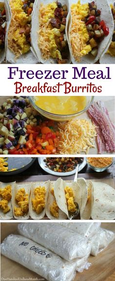 Freezer Meals Breakfast Burritos One Hundred Dollars A - The Kids Are Back In School Now So That Means Were Back To Having A Morning Routine I Miss Those Lazy Days Of Summer But Im Making Breakfasts And Freezing Them So I Can Press That Snooz Paleo Breakfast, Breakfast Recipes, Breakfast Crockpot, Breakfast Casserole, School Breakfast, Breakfast Sandwiches, Breakfast Pancakes, Breakfast Bake, Breakfast Dishes