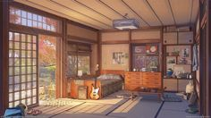 This HD wallpaper is about brown wooden framed glass display cabinet, anime, visual novel, Original wallpaper dimensions is file size is Environment Concept Art, Environment Design, Animation Background, Art Background, Casa Anime, Anime Places, Bg Design, Anime Scenery Wallpaper, Landscape Wallpaper