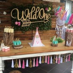 Check out this gorgeous boho tribal birthday party! Love the backdrop! See… Check out this gorgeous boho tribal birthday party! Love the backdrop! See…,Bohemian Tribal Party Check out this gorgeous boho tribal. Wild One Birthday Party, First Birthday Themes, Baby Girl 1st Birthday, Third Birthday, 3rd Birthday Parties, Birthday Ideas, Pocahontas Birthday Party, Birthday Decorations, Fete Emma