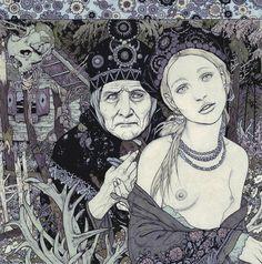 Baba Yaga, Dark Russian Fairy Tale.