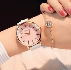 Ulzanng Ladies Watch BranXin - New and Polygonal dial design women watches luxury fashion dress quartz watch ulzzang popular brand white ladies leather wristwatch [Pink Glass Black] Fancy Watches, Cute Watches, Elegant Watches, Beautiful Watches, Luxury Watches, Girl Watches, Black Watches, Ladies Watches, Rose Gold Watches