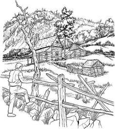 landschaft ausmalbilder 01 | malvorlagen, landschaftszeichnungen, landschaft zeichnen