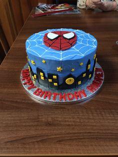 Spider-Man choc fudge cake with buttercream