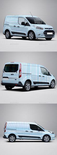 2014 Ford Transit Connect Wrap Mockup - Vehicle Wraps Print