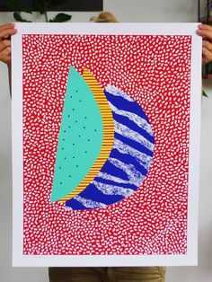 Abstract colorful watermelon pattern by weareoutofoffice on Etsy