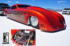Fantastic Studebaker from Johnson's Hot Rod Shop at Bonneville running 2 Yellow Tops