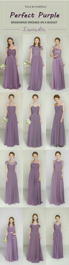Vestidos de damas en color lavanda