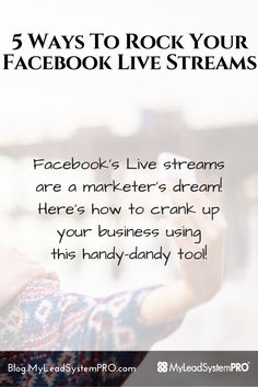 Facebook's Live streams are a marketer's dream! Keysha Bass is cranking up her business using this handy-dandy tool!  On today's Leader Blog Post she's going to show you how to get started right away and make more connections, generate more leads and make more sales using livestream!