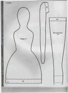 Moldes Para Artesanato em Tecido: Tildas