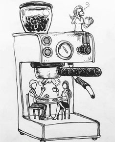 coffee drawing 29 Exceptional Coffee Bean Roaster For Home Coffee Bean Light Roast Don Pablo Coffee Latte Art, Coffee Cafe, Coffee Drinks, Drinking Coffee, Cafe Barista, Coffee Doodle, Tea Latte, Iced Coffee, Coffee Bean Art