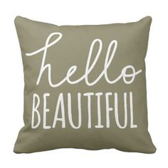 Good day Lovely Typography Whimsical Girly Throw Pillow.  Learn more by clicking the picture link