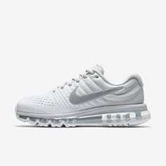 huge discount bfbf7 16ade Nike Air Max 2017 Womens Pure Platinum White Off White Wolf Grey Shoes  Outlet