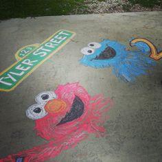 Michelle R's Birthday / Sesame Street - Photo Gallery at Catch My Party Elmo Birthday, 2nd Birthday Parties, Sesame Street Party, Sesame Street Birthday Party Ideas, Chalk Design, Sidewalk Chalk Art, Chalk Drawings, Vsco, Chalkboard Art