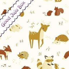 Fort Firefly -Animales en la nieve-Organic Cotton de Good Juju Box por DaWanda.com