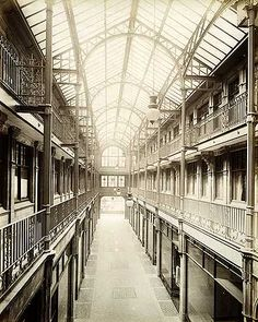 Deansgate Arcade interior, 84 Deansgate, Manchester. Looking towards the gardens. Jul 1900