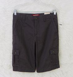 New Boys ARIZONA Gray Adjustable Waist Casual Cargo Shorts Size 14 Husky #AriZona #Everyday