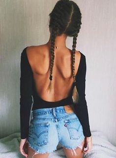 Jeans and braids