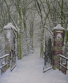 Wouldn't it be lovely to ride through these gates on a horse drawn sleigh?places to ride>>