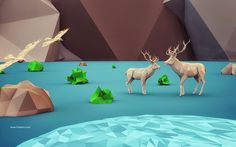 beautiful life - 3D low Polygon art on Behance