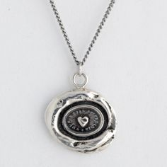 Another piece of jewellery that I want! Heart Print Talisman Necklace