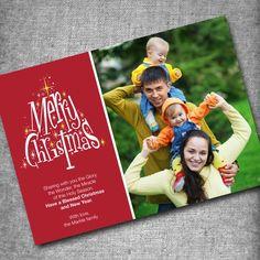 PRINTABLE Customized Holiday Photo Card Design - Dashing