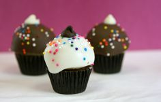 Mini Cupcake Cake Bites (use Reeses Peanut Butter Cups for the bottom)
