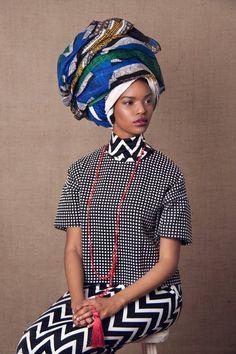 Aphelele+Mbiyo+African+head+wraps ~African fashion, Ankara, kitenge, African women dresses, African prints, Braids, Nigerian wedding, Ghanaian fashion, African wedding ~DKK