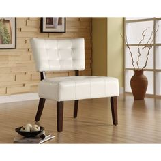 Homelegance Warner Accent Chair in White