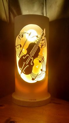 cello Diy Paper, Paper Crafts, Hand Engraving, Cello, Table Lamp, Lights, Creative, Handmade, Paper Craft Work