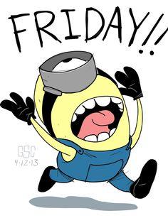 Friday Minion friday happy friday tgif minions friday quotes friday quote funny friday quotes quotes about friday Cute Minions, Minions Despicable Me, My Minion, Minion Friday, Funny Minion, Minion Talk, Tgif, Funny Shit, Hilarious