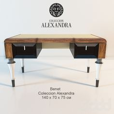 3d модели: Столы - СТОЛ ПИСЬМЕННЫЙ BENET / COLECCION ALEXANDRA