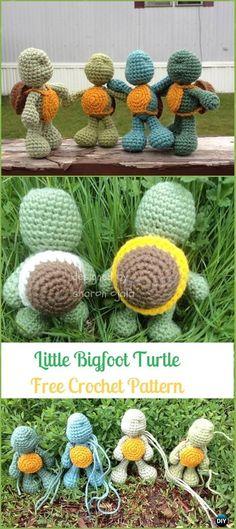 Amigurumi Crochet Little Bigfoot Turtle Free Pattern - Crochet Turtle Amigurumi Free Patterns