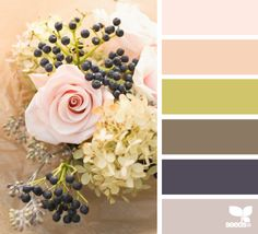 rustic bouquet  Wedding Colour Palette - #WeddingColourPalette #AmandaDouglasEvents