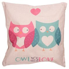 'Owl You Need is Love' Jute Cushion with Insert,Comfort,Home Decor,Modern,Animal in Home, Furniture & DIY, Home Decor, Cushions   eBay