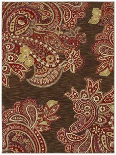 Area Rugs - HGTV Home Flooring by Shaw | Kashmir 3VE76 Brown