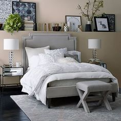 The bed or even the decor doesn't really interest me, but the ledge behind/above the bed frame with all the decor detail is fantastic!