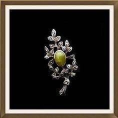 Art Deco IRISH Silver Brooch With Rare Connemara Marble  £80