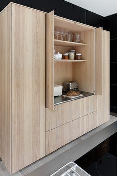 Kitchen Room Design, Interior Design Kitchen, Kitchen Decor, Küchen Design, House Design, Mid Century Modern Kitchen, Kitchen Models, Apartment Kitchen, New Kitchen