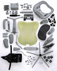 Herman Miller Mirra chair for the studio. Looks like you get a fair few parts for the money. Thankfully it will arrive fully assembled as we don't fancy trying to put that lot together. Find out more about the beautiful designer furniture of Herman Miller