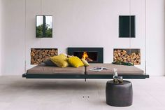 From outdoor wood fireplaces, to gas fires and Fire Table's, get your backyard ready for summer with an Escea outdoor fireplace. Outdoor Wood Fireplace, Modern Fireplace, Fireplace Design, Outdoor Fireplaces, Gas Fireplace, Dream House Plans, My Dream Home, Apartment Living, Home Furniture